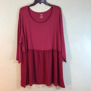 EVRI Blouse Top Red NWT Size 3X